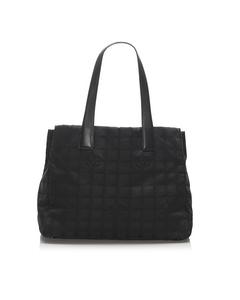 Chanel New Travel Line Nylon Tote Bag Black