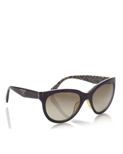 Prada Round Tinted Sunglasses Black