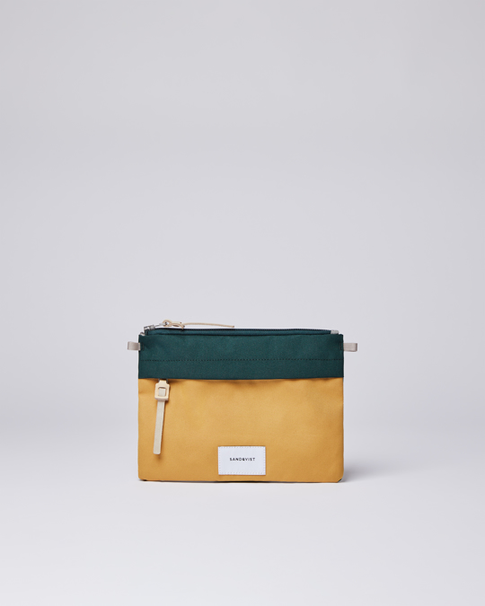 Sandqvist Ludvig Multi Honey Yellow/dark Green With Natural Leather