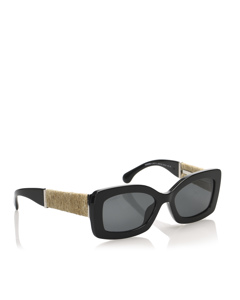 Chanel Square Tinted Sunglasses Black