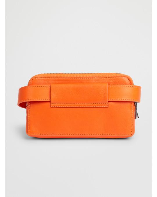 COS Leather Purse Belt Bag Fire Orange
