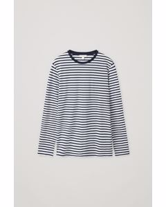 Stripe Top Navy / White