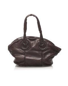 Bottega Veneta Leather Tote Bag Brown