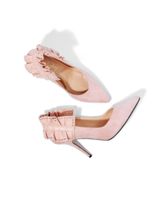 Dora Beauty Pump Soft Pink Suede