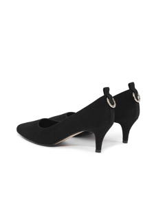 Eva - The Kitten-heel Pump Black Suede