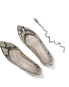 Agnes - Pointy Ballerina Snake Roccia Leather