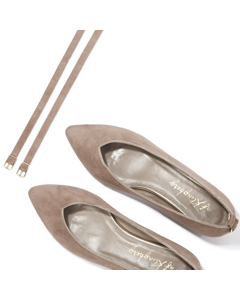 Agnes - Pointy Ballerina Dusty Rose Suede