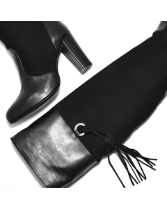 Donna - Always In Style Boot Black Leather/suede