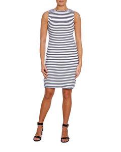 Lexington Klänning Nellie Blue/white Stripe
