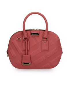 Burberry Orchard Leather Satchel Pink