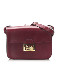 Celine Horse Carriage Leather Crossbody Bag Red