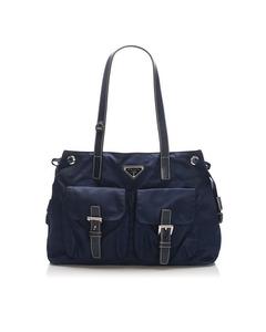 Prada Tessuto Shoulder Bag Blue