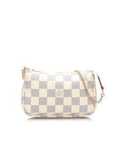 Louis Vuitton Damier Azur Mini Pochette Accessoires White