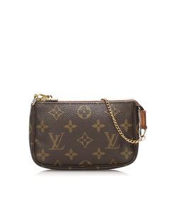 Louis Vuitton Monogram Mini Pochette Accessoires Brown