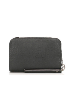Louis Vuitton Taiga Baikal Clutch Bag Black