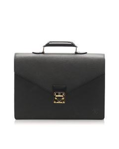 Louis Vuitton Epi Serviette Ambassadeur Black