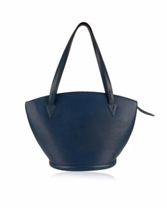 Louis Vuitton Vintage Blue Epi Leather Saint Jacques Shoulder Bag