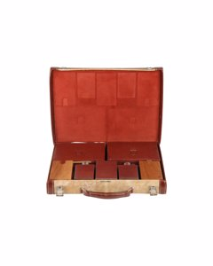 Hermes Vintage Leather Travel Grooming Set With Toiletry Accessories