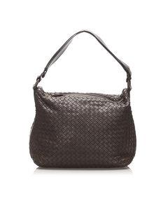 Bottega Veneta Intrecciato Leather Shoulder Bag Brown