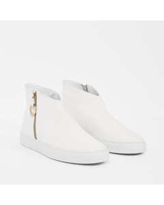 Johanna - The Office Sneaker White Cervo Leather