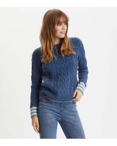 Majestic Sweater Denim Blue