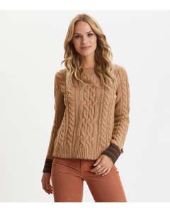 Majestic Sweater Camel