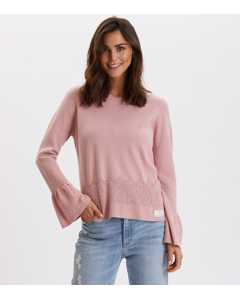 Savagely Cute Sweater Smoke Rose