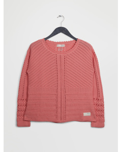 Symmetry Moves Sweater Peach Blossom