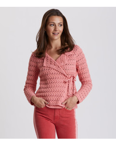 Symmetry Moves Cardigan Peach Blossom