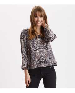 Head Turner Blouse Asphalt