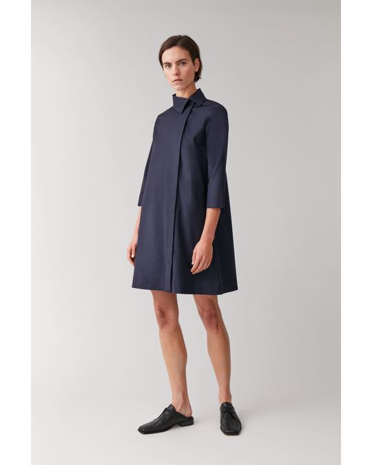 COS Cl E Pinga Wool Dress Blue