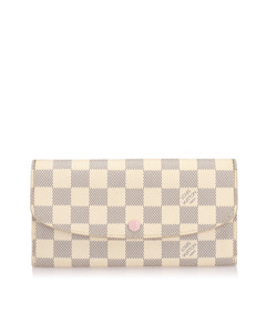 Louis Vuitton Damier Azur Emilie White