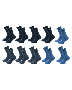 Pierre Cardin 10 Paar Casual Sokken Blauw