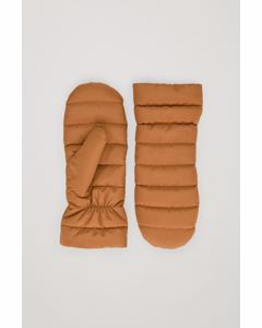 Padded Mittens Brown