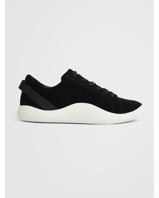 COS Suede Sneakers With Rubber Soles Black / White