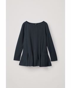 TOP WITH FLARED HEM Navy