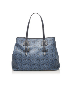 Celine Carriage Tote Bag Blue