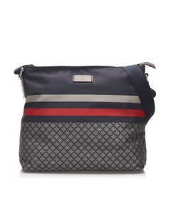 Gucci Diamante Nylon Crossbody Bag Blue