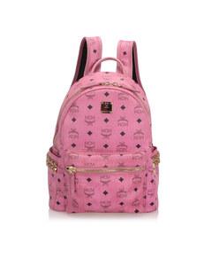 Mcm Visetos Stark Backpack Pink