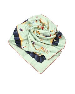 Bvlgari Printed Silk Scarf Green