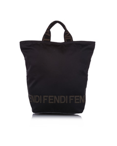 Fendi Canvas Tote Bag Black