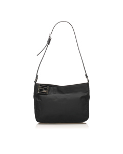 Fendi Canvas Shoulder Bag Black