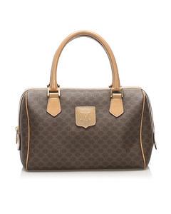 Celine Macadam Mini Boston Bag Brown