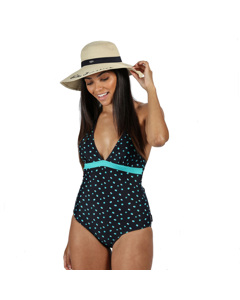 Regatta Womens/ladies Flavia Polka Dot One Piece Swimsuit