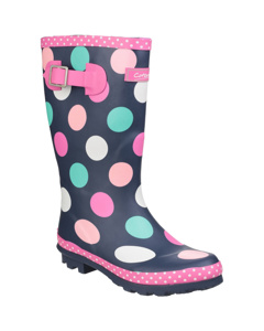 Cotswold Childrens Girls Dotty Spotted Wellington Boots