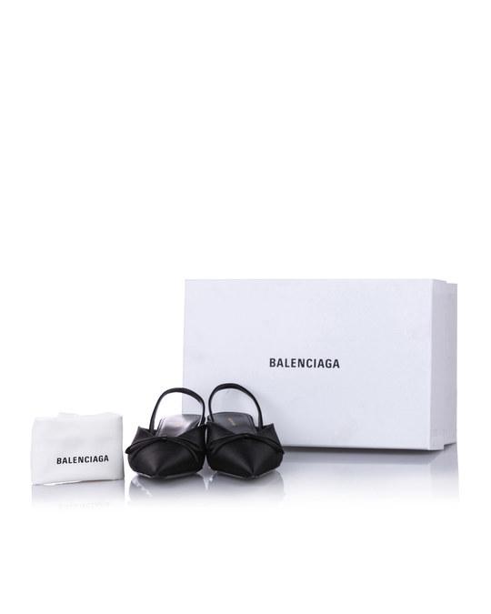Balenciaga Balenciaga Knife Slingback Satin Mule Black