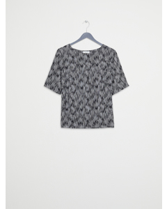 Shelly Printed Top Black
