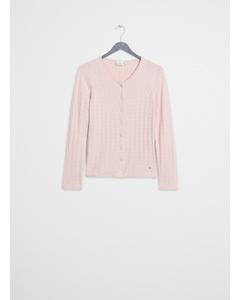 Mejram Cable Cardigan Pink Lemonade