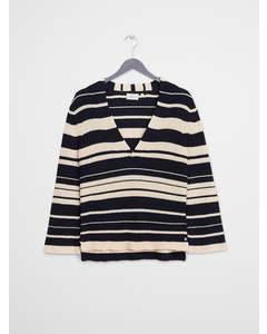 Kalla Striped Sweater Night Sky