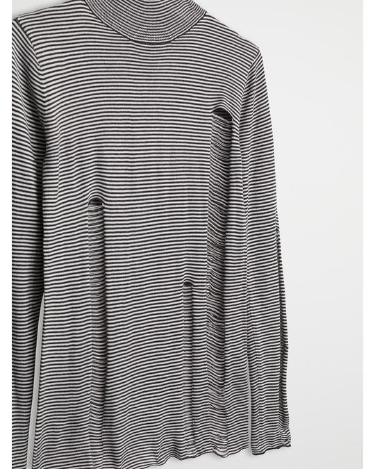 Cheap Monday Scrap stripe knit Black/Dirty white